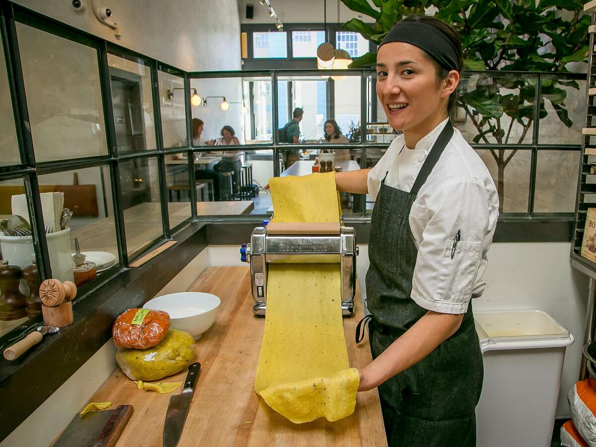 Chef Michelle Minon makes pasta at Barzotto in San Francisco, Calif. on October 6th, 2016.