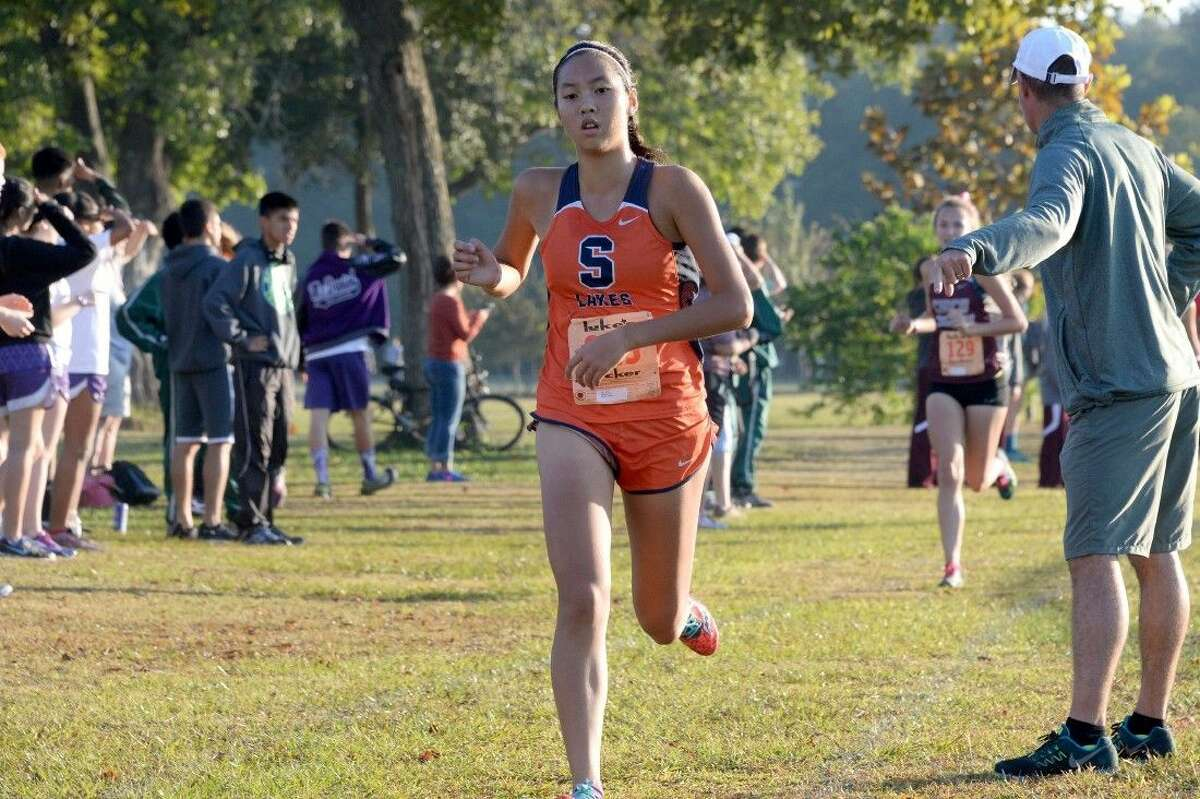 Sharon Xu and Seven Lakes placed all five scoring runners in the top 30 to win the Region III-6A team championship Oct. 26 at Kate Barr-Ross Park in Huntsville. The Lady Spartans were also the District 19-6A champions.