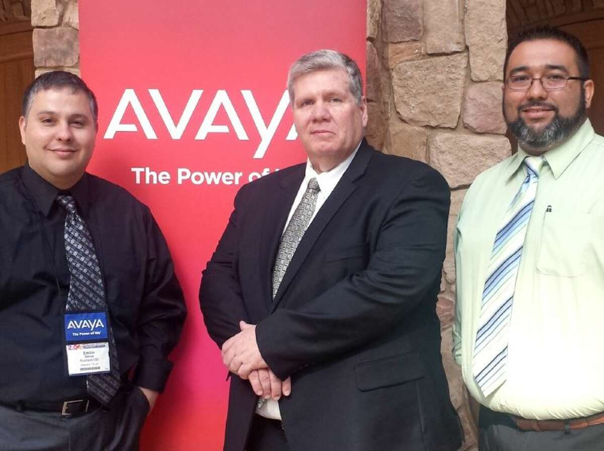 Pearland ISD Technology Department's (from left) network coordinator Emilio Garcia, director Greg Bartay and network manager Art Gonzalez accepted the Avaya Technology Innovation Best Practice Award at a global conference this April.