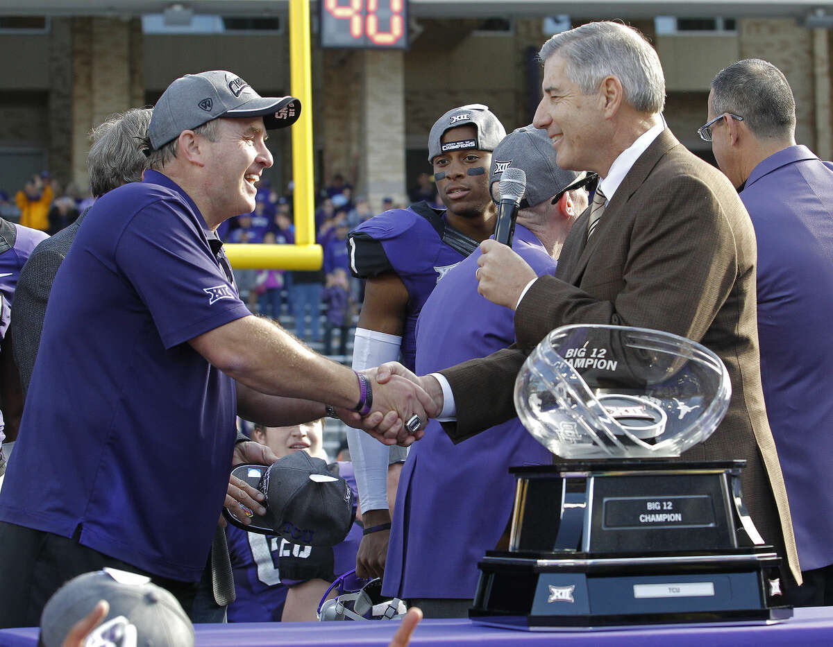 TCU's Gary Patterson was named AP Big 12 Coach of the Year.