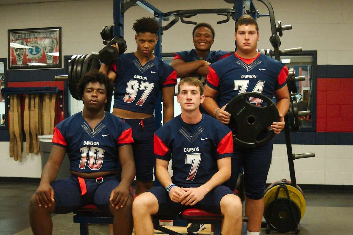 Impact players for the Dawson Eagles this year should be (top row, left to right) Desmond Clifton, Payne He'Bert, Justin Parker (bottom row) Patrick Howell and Zach Smith.