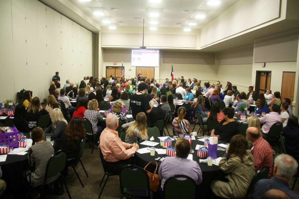 More than 100 teachers, administrators and guests from Dayton ISD were the guests of the Dayton Chamber of Commerce for the annual New Teachers' Luncheon. The event was held at the Dayton Community Center.