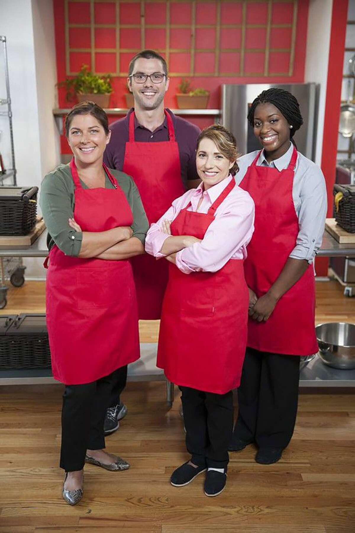 Jersey Village High School graduate and Hamilton Elementary School paraeducator Avanta Adeleke, far right, was a finalist in the Food Network 2015 Chopped at Home Challenge, and is currently in contention to be a 2016 finalist.