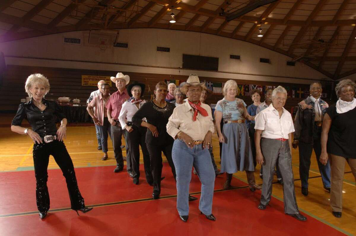 College of the Mainland students learn line dancing in a continuing education class. New dancing, art, fitness and computer classes are now open for registration at www.com.edu/ce or 409-933-858