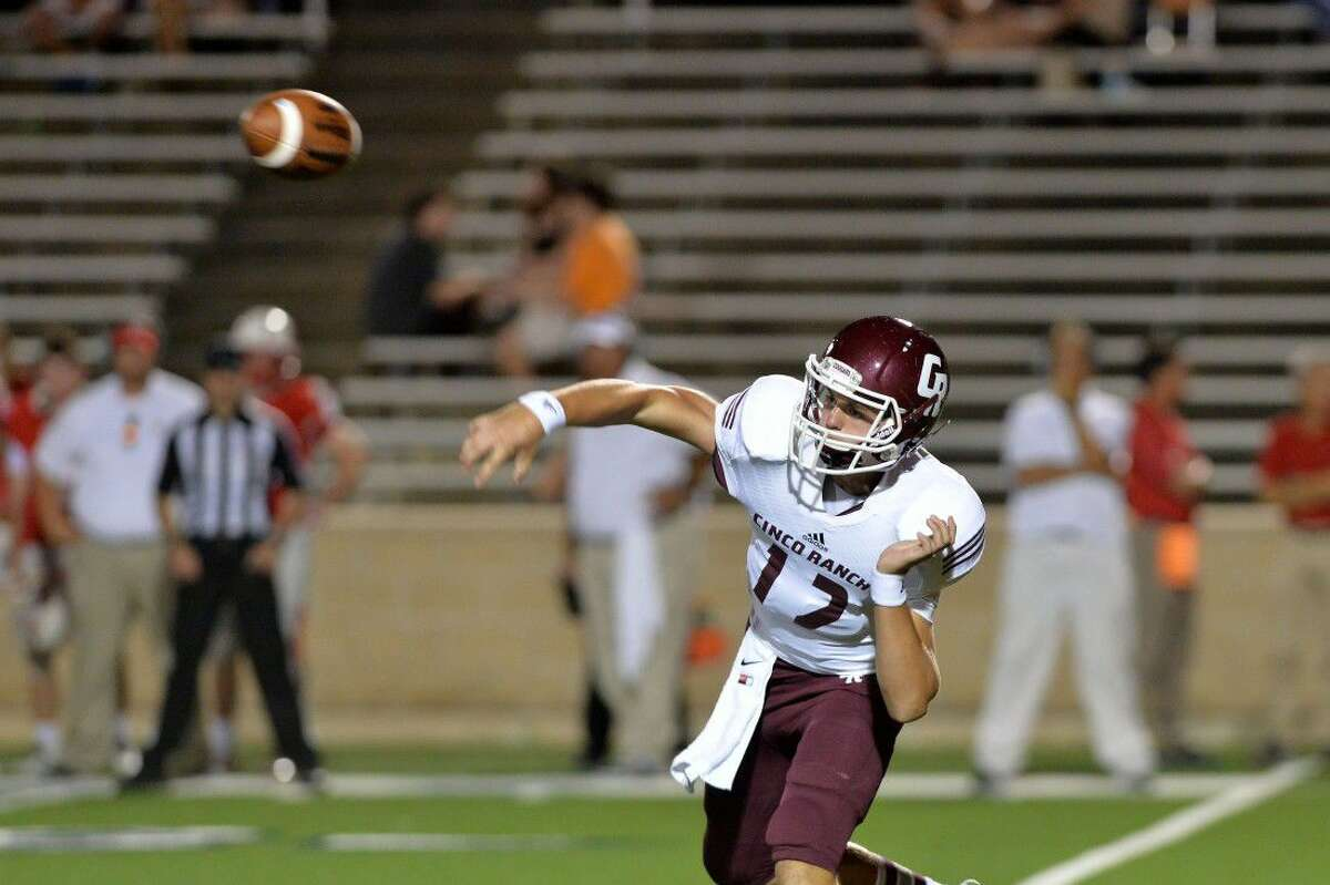 James Klingler is one of the returning quarterbacks for Cinco Ranch as the Cougars look to follow a 9-2 season. To view or purchase this photo and others like it, visit HCNpics.com.