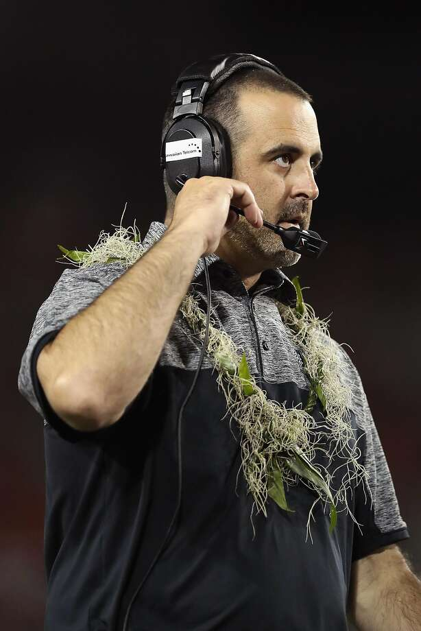 TUCSON, AZ - SEPTEMBER 17:  Head coach Nick Rolovich of the Hawaii Warriors walks the sidelines during the college football game against the Arizona Wildcats at Arizona Stadium on September 17, 2016 in Tucson, Arizona.  (Photo by Christian Petersen/Getty Images) Photo: Christian Petersen, Getty Images