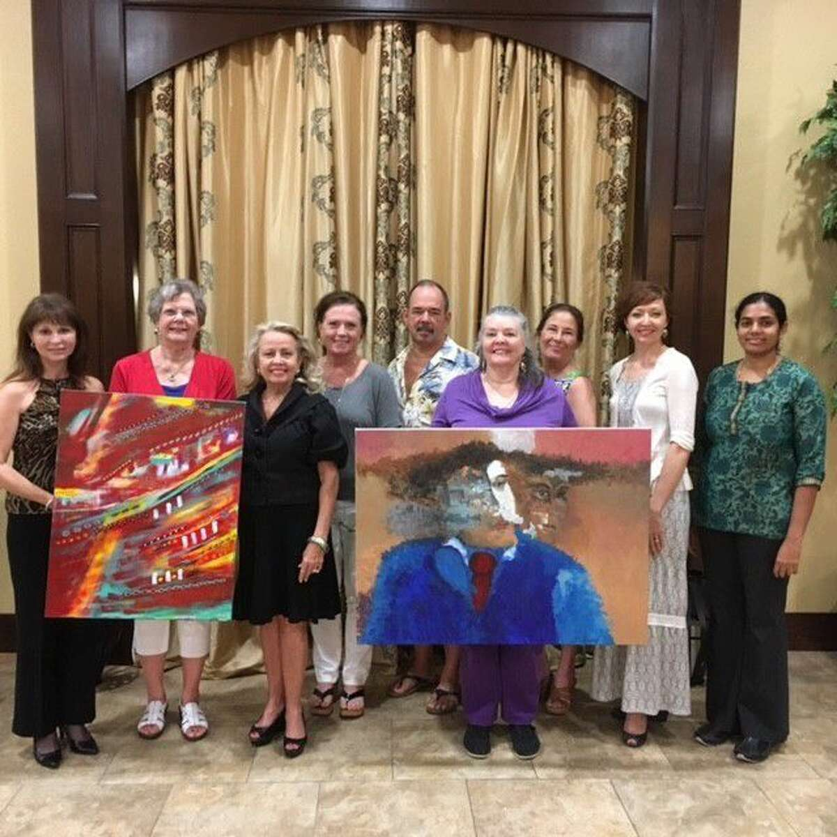Pictured, left to right, are Heidi Wiess, Director of Pearland Alliance for Arts and Culture; Margo Green, Co-Chair for