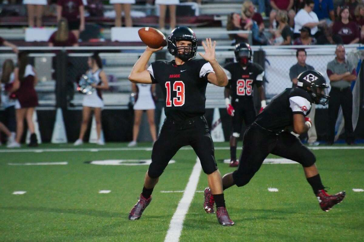 Clear Brook's Jaizac Garcia (13) brings experience and talent to the starting quarterback job for the Wolverines.