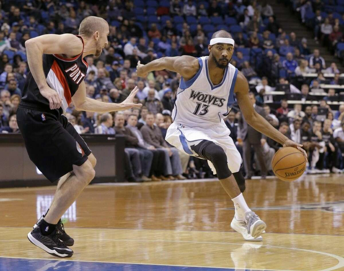 Minnesota Timberwolves guard Corey Brewer (13) was traded to the Houston Rockets on Friday.