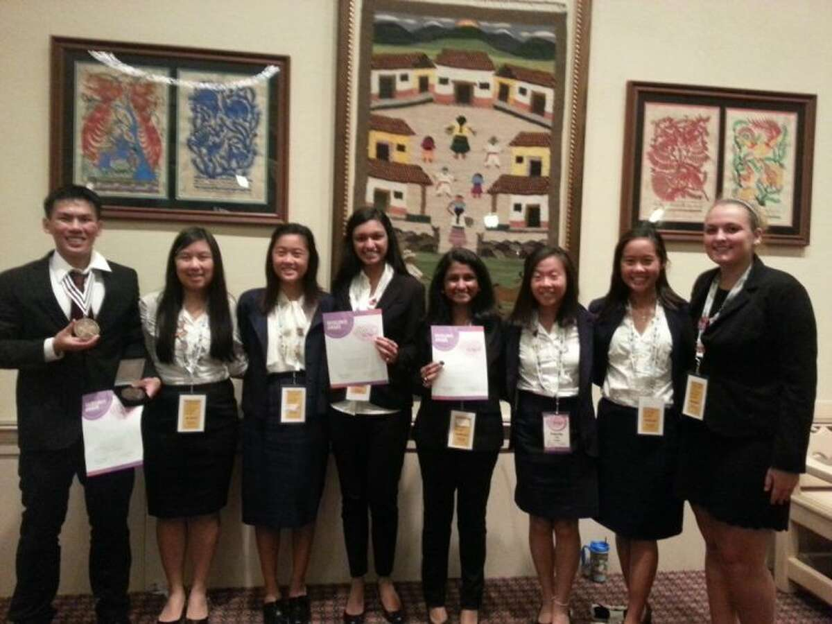 Left;Nathan Tat, Rachel Cao, Ashley Cao, Avery Chahl, (Middle); Neha Narayan, Felicity Yiu, Christina Nguyen and (Right); Sarah Sutherland all competed and placed at the National HOSA conference in Florida.