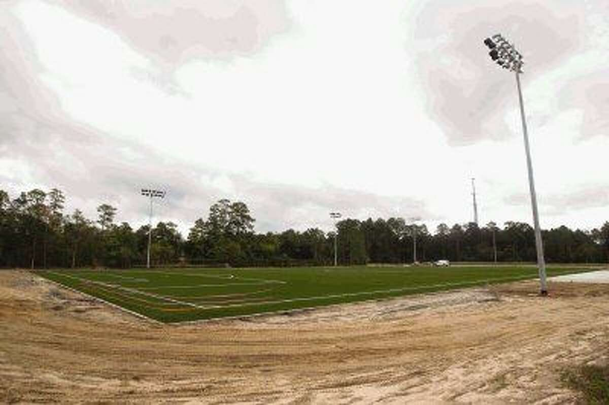 The artificial turf fields are in at the new Gosling Sports Field Complex. According to township officials, the grass fields will be complete in mid-May.
