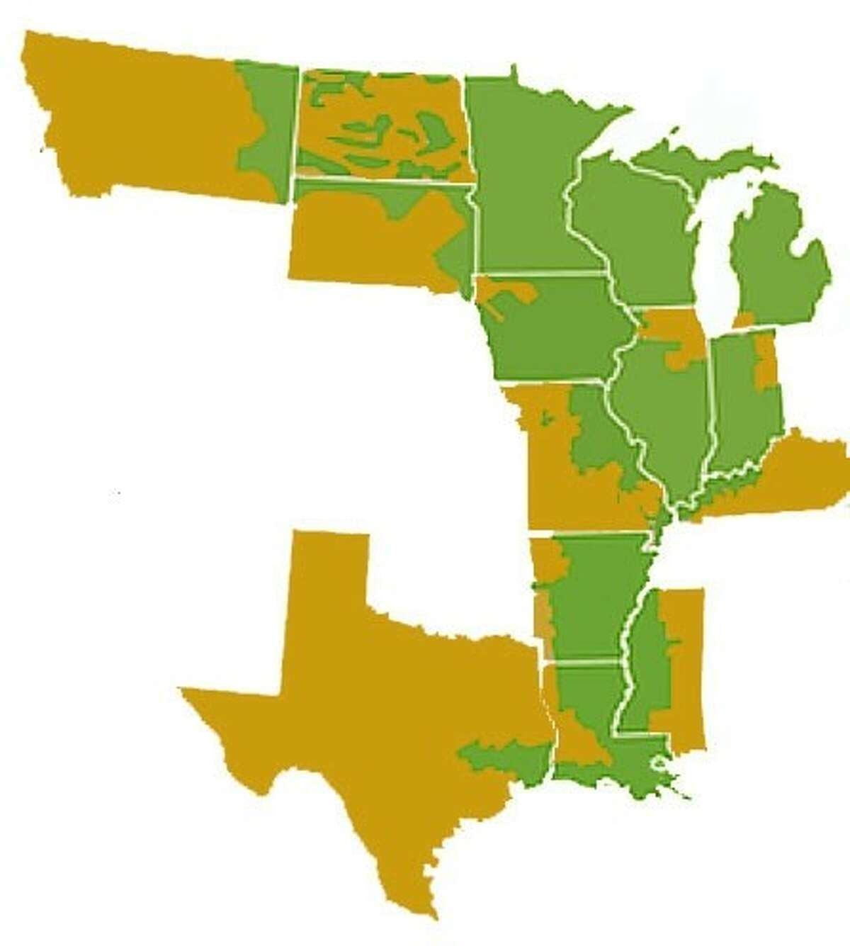 MISO operates with power producers and transmitters in 15 states, plus one Canadian province.