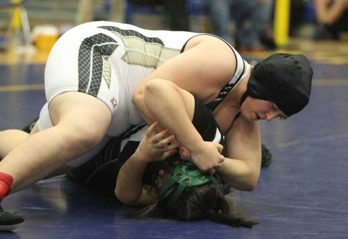Conroe's Rebecka Winton won the 215-pound weight class at the District 9-5A tournament on Thursday at Klein High School. To view or purchase this photo and others like it, visit HCNpics.com.