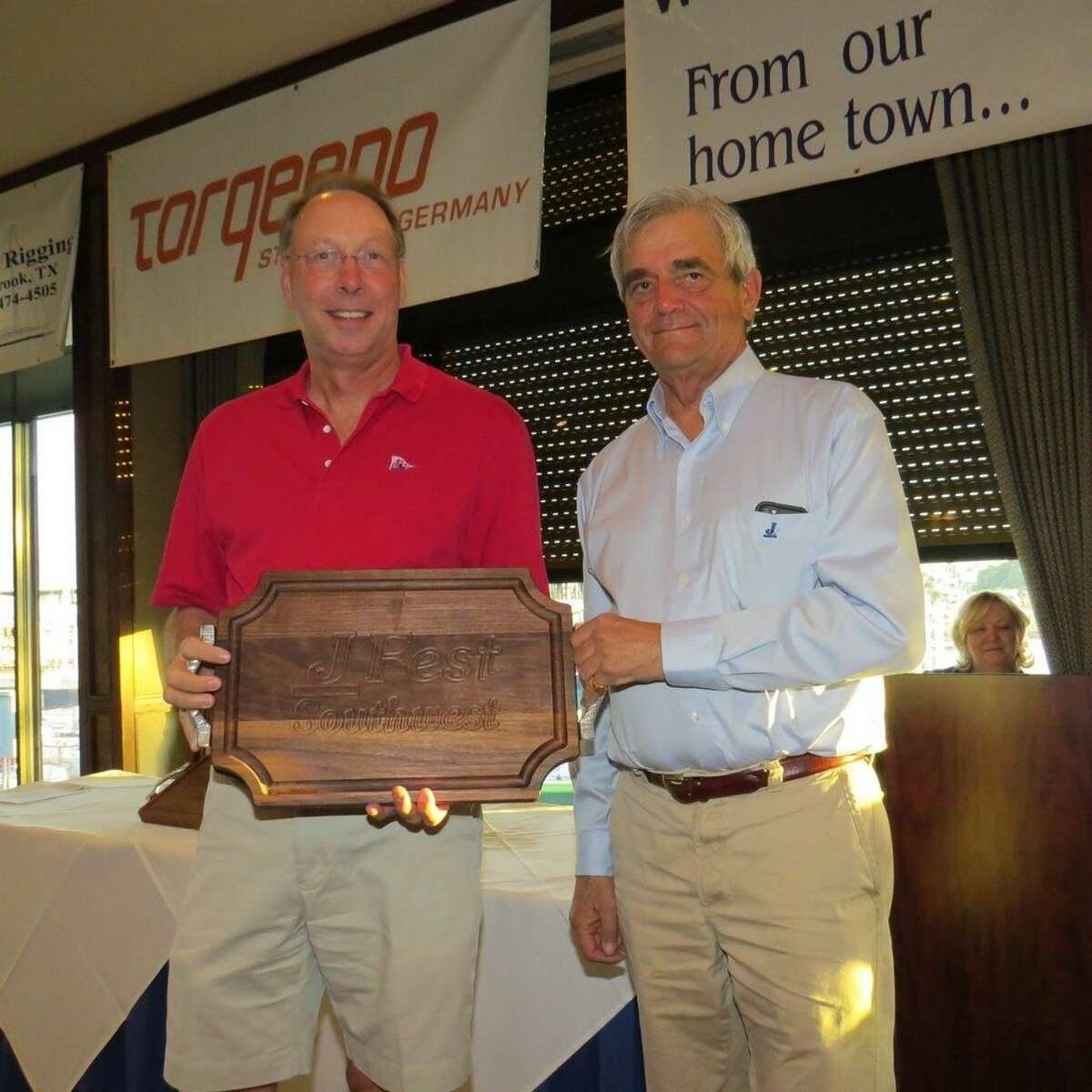 Lakewood Yacht Club racer Al Goethe, chairman of the 5th Annual J/Fest Southwest Regatta, earned the first place trophy in the J/109 fleet on