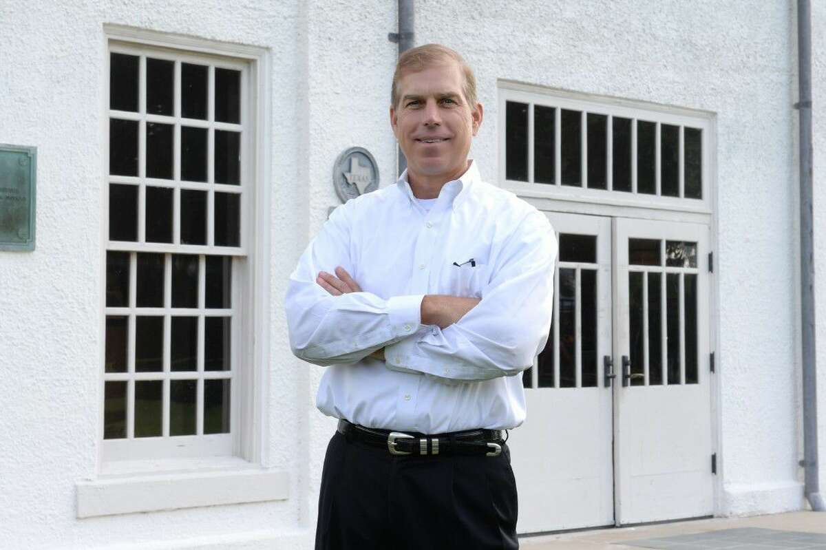 Tim Stubenrouch, president of the Sugar Land Cultural Arts Foundation, stands outside the Sugar Land Auditorium.