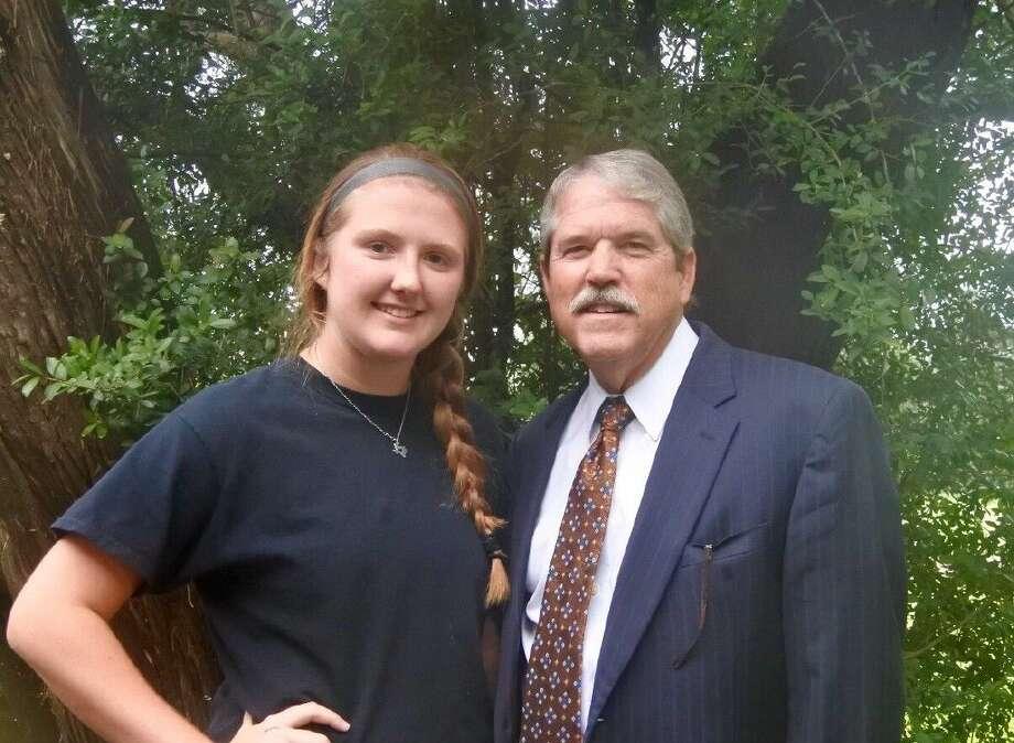 Senator Larry Taylor and Karlie Smelser.