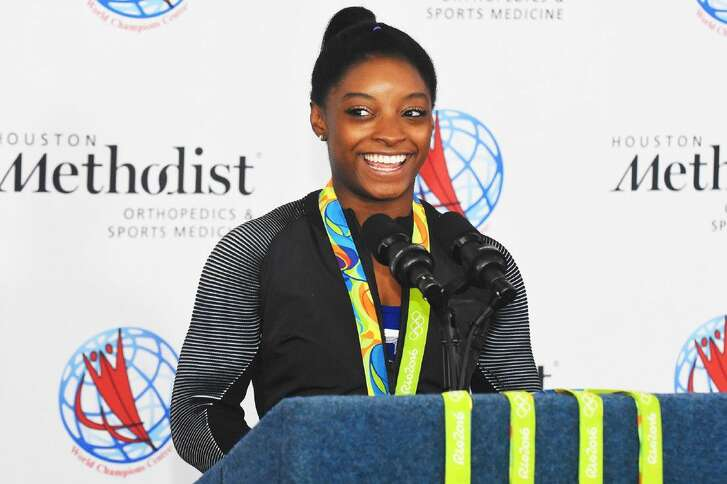 U.S. Olympic gymnast and Spring resident Simone Biles brought tales of her experience in Brazil back home during a news conference Saturday at Houston Methodist Willowbrok Hospital.