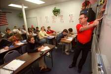 Students took notes in a driver's education class in this file photo. In an effort to help better educate motorists and keep up with the area's growth, SafeWay Driving is now open in Spring and has partnered with Klein Collins High School.
