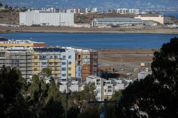 The shipyard housing projects are seen in the Bayview-Hunters Point neighborhood, on Thursday, Oct. 6, 2016 in San Francisco, Calif. The vice president of the S.F. Board of education is leading the effort for Proposition O, which would exempt the housing project from the city's office space cap.