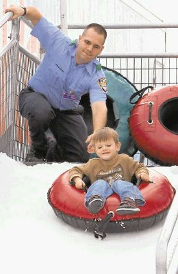 The City of Pearland will host Winterfest on Saturday, Jan. 25 at the Pearland Recreation Center and Natatorium. The event features lots of fun, family-friendly activities such as a snow tubing hill for kids. Photo: KRISTI NIX / @WireImgId=2656681
