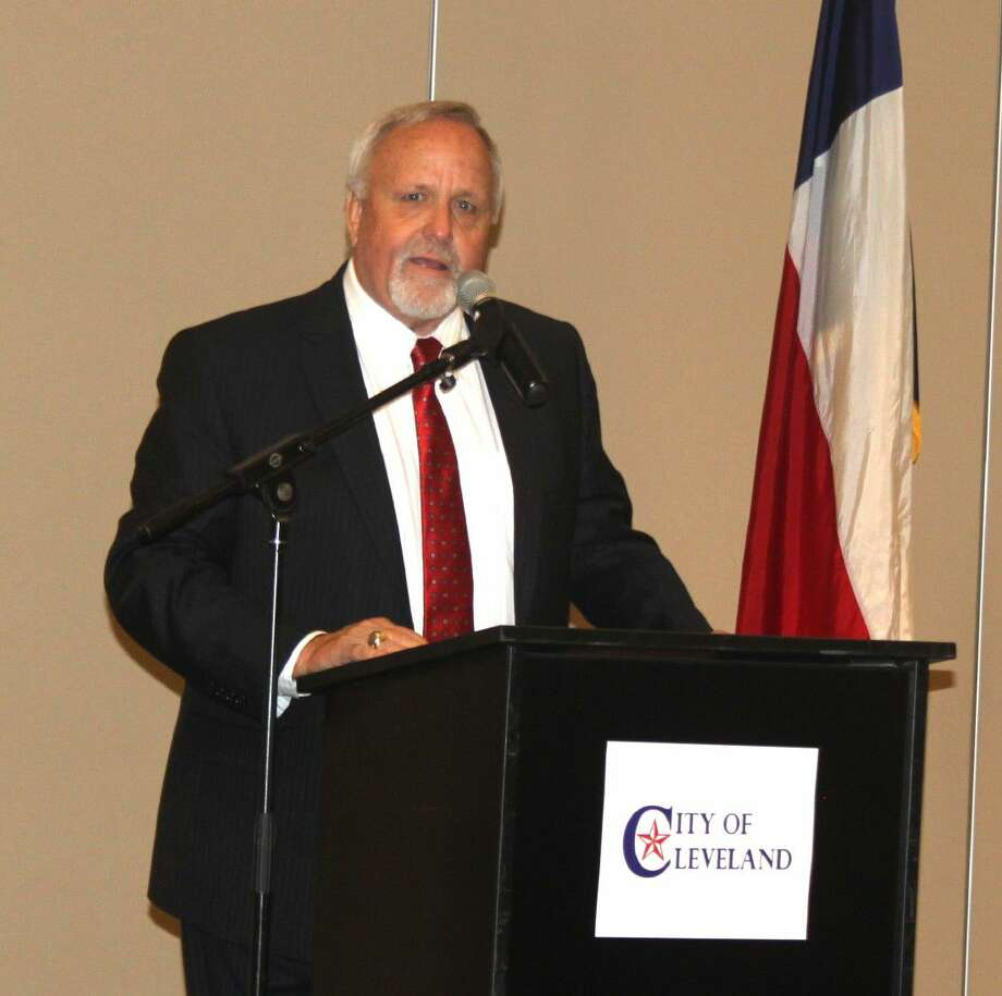 Liberty County Judge Jay Knight discusses the future economic growth of the county and the benefits of having a strategic plan to fully benefit from it during the Greater Cleveland Chamber of Commerce's luncheon on Sept. 1 at the Cleveland Civic Center. Photo: Jacob McAdams