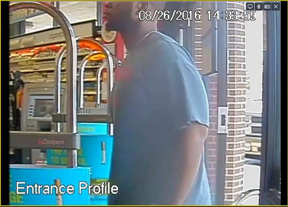 These still shots were obtained from a La Porte Walgreens store at 9705 Spencer Highway after a purchase was made with a stolen debit card on Aug. 26.