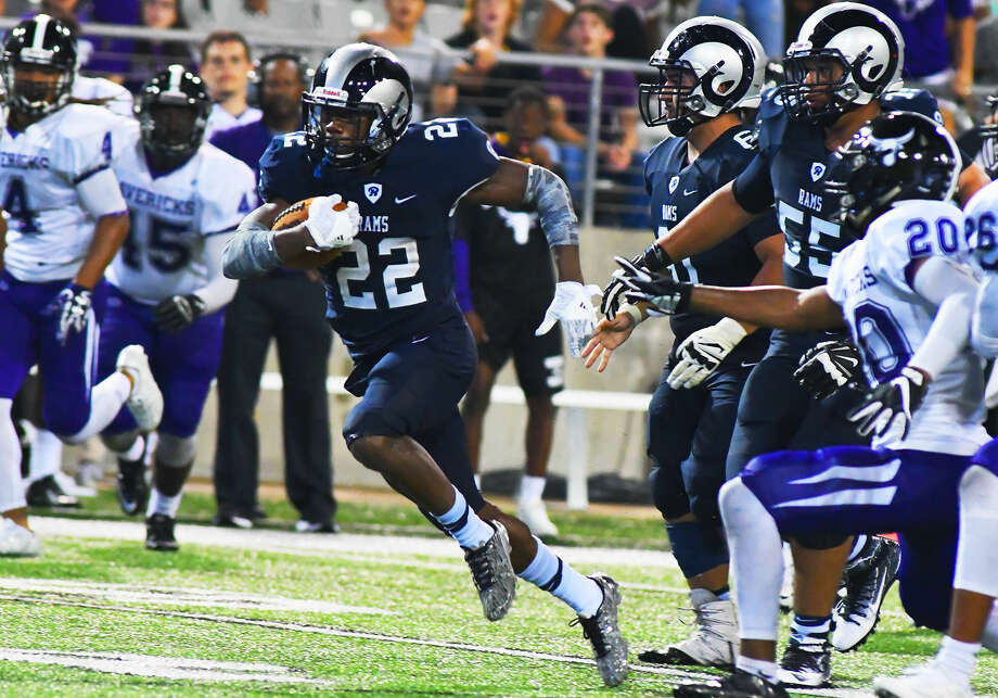 Cy-Ridge senior running back Trelon Smith erupted against Morton Ranch, rushing 24 times for 196 yards and three touchdowns. The returning 17-6A Offensive MVP was in rare form in the second half, taking advantage of cramps and poor conditioning from Morton Ranch to seal the win with superb late-game rushing. Photo: Tony Gaines