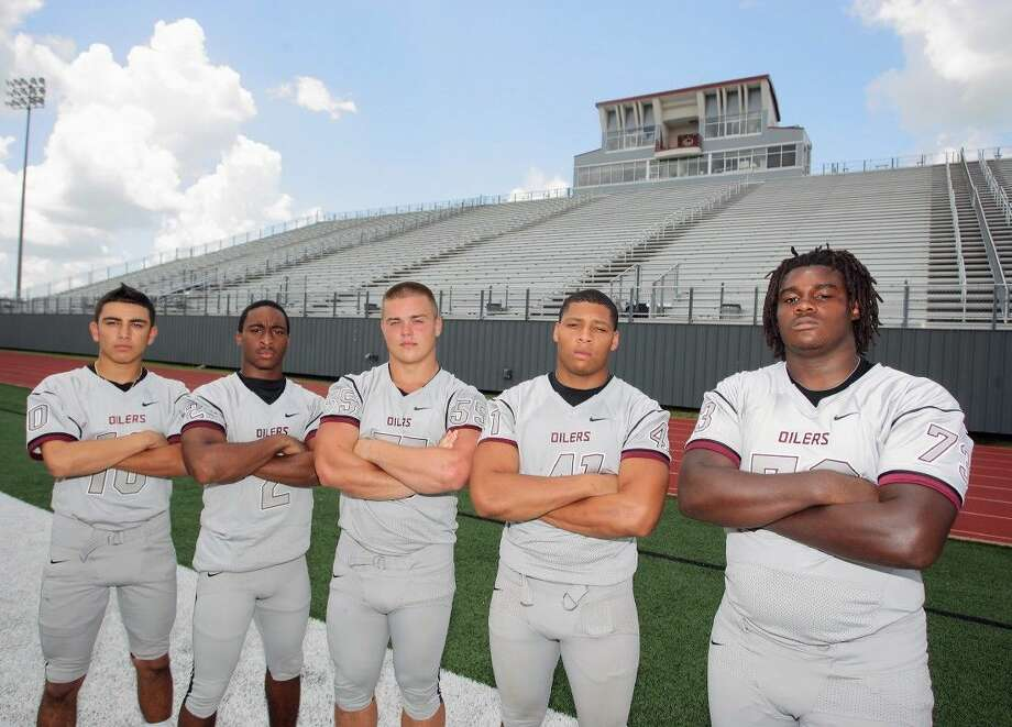 Hoping to power Pearland to another lengthy playoff run are (left to right) Ryan Diaz, JaColbie Butler, Ronald Fraser, Deonte Givens and Willie Williams. Photo: KAR HLAVA