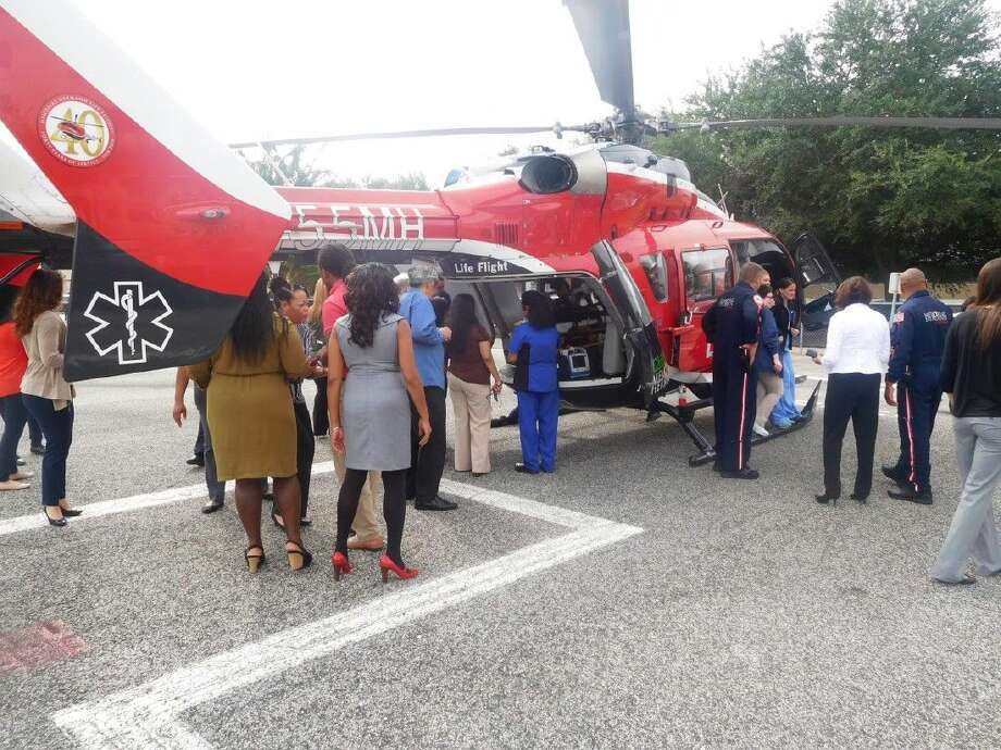 The Memorial Hermann Southwest Hospital team joined Life Flight crew members on the helipad for an exclusive look inside the aircraft.