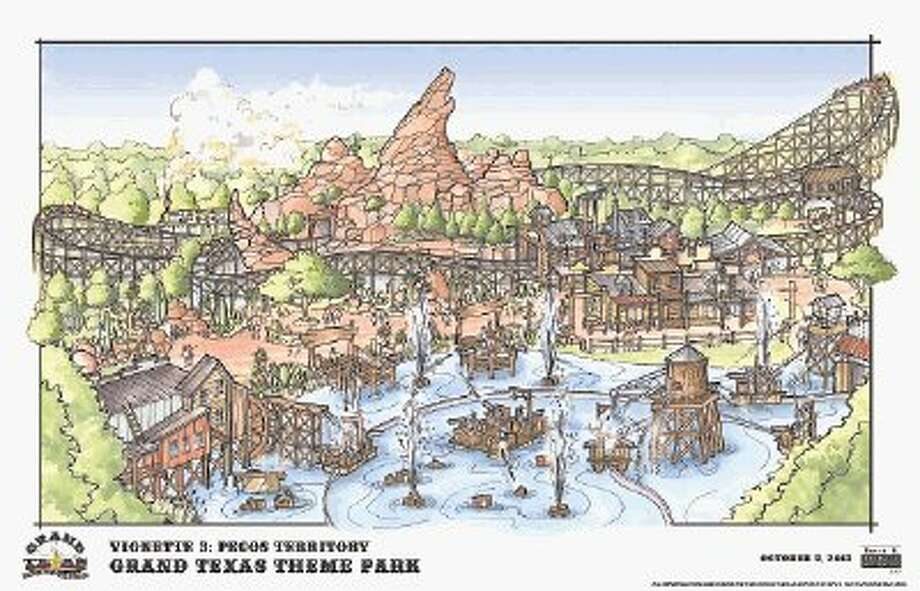 There are seven theme areas that will touch on various parts of Texas history and culture at the Grand Texas Theme Park. There will be roller coasters and water rides for guests to enjoy as well as an adventure area with zip lines and an equestrian trail so everyone can have a taste of Texas. Photo: Submitted Photo / @WireImgId=2656546