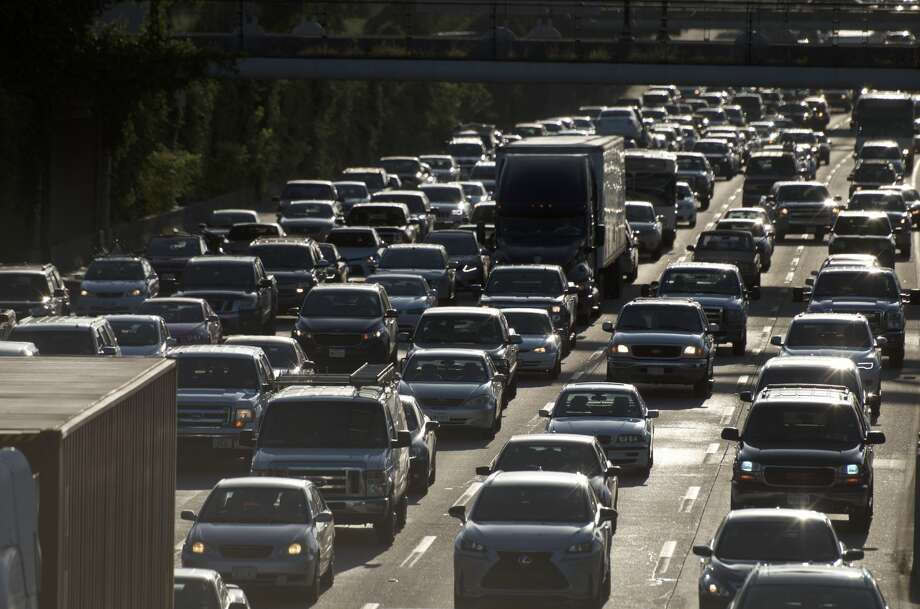 Traffic piles up during rush hour along U.S. 59 in Houston. Photo: By Jay R. Jordan