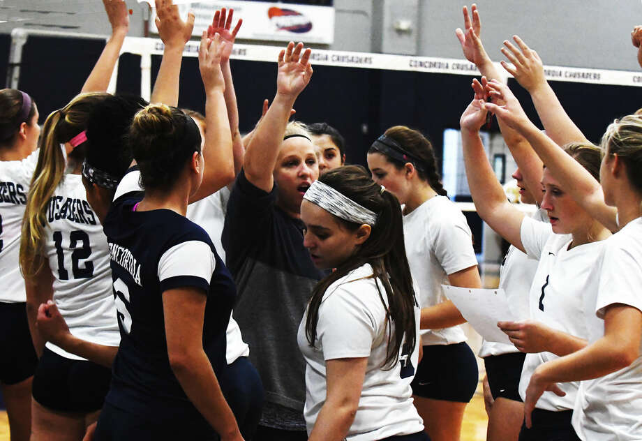 The Concordia Lutheran Lady Crusaders are making no secret of their lofty aspirations this season. They intend to win it all, and - after a week of back-to-back wins against their district rivals in straight sets - they are right on track. Photo: Tony Gaines