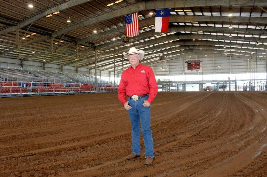 Fair Manager Sam Magee of the Ft. Bend County Fair Association stands in the rodeo arena of the fairgrounds in Rosenberg on Sept. 7. Photo: Staff
