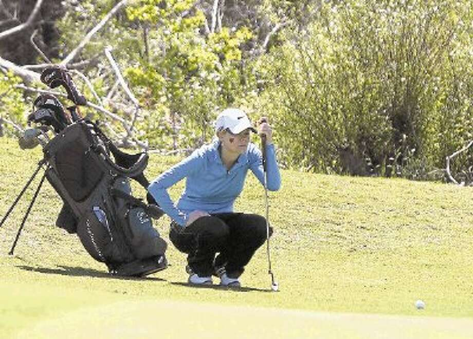 Greta Bruner of The Woodlands opened the Region II-5A tournament with an 80 on Monday. The Lady Highlanders are second in the team standings. / @WireImgId=2622627