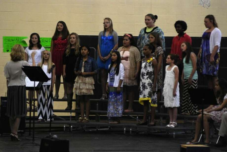 Liberty Middle School choir performs during the LMS Fine Arts Gala Friday, May 30. Photo: CASEY STINNETT