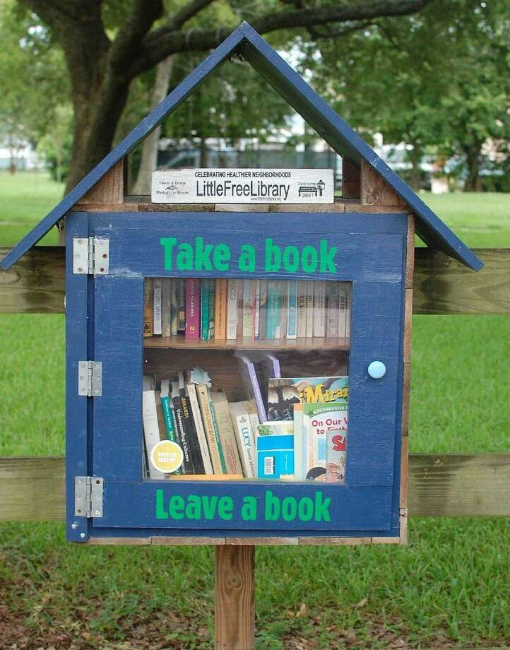 The Live Oak Friends will meet at 1318 West 26th to dedicate the Children's Annex to their Little Free Library at noon on Sunday, Sept. 25. Refreshments will be provided. Photo: Live Oak Friends