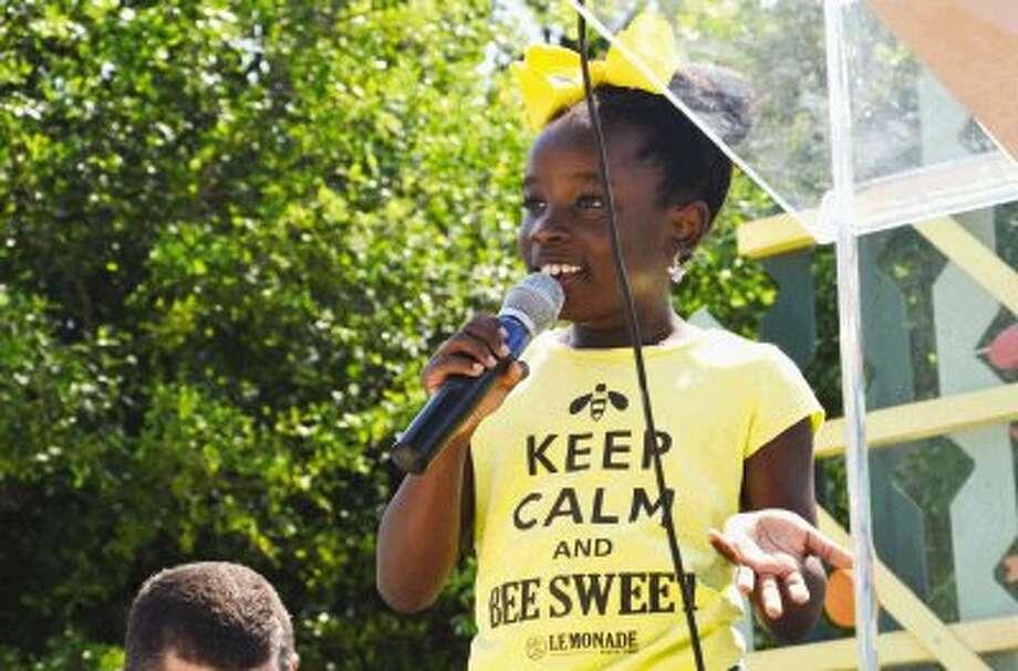 Mikaila Ulmer, BeeSweet Lemonade entrepreneur, opens the Lemonade Day Contest.