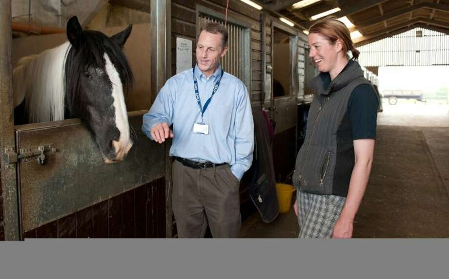 During his sabbatical in England, Steve Scheffler learned about equine studies from a student at Bedford College's Shuttleworth campus, which specializes in animal science and land management.
