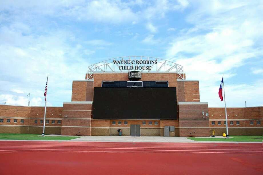 "In honor and memory of longtime Humble supporter Wayne C. Robbins continued support for Humble Independent School District's athletic program, the school board voted and unanimously approved Tuesday, Sept. 13 to re-name the Turner Stadium Field House, the ""Wayne C. Robbins Field House."""