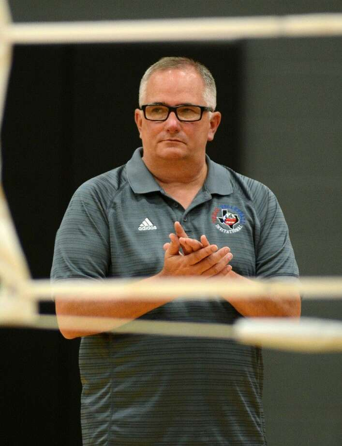 Pearland head volleyball coach John Turner, retiring at the end of the 2016 season, is approaching his 800th career victory. Photo: Jerry Baker