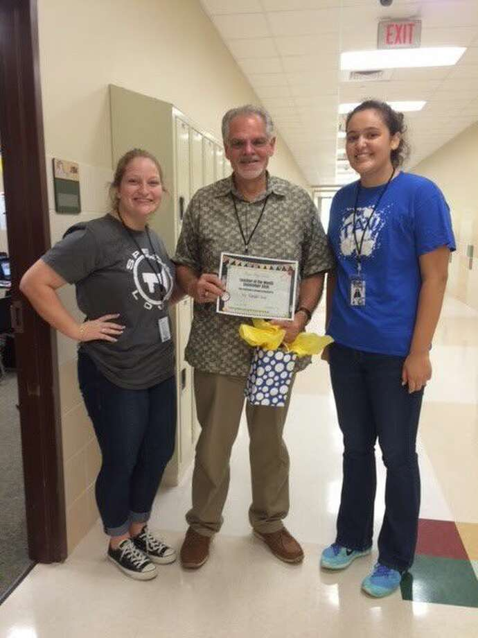 Randall Awe was selected as Teacher of the Month.