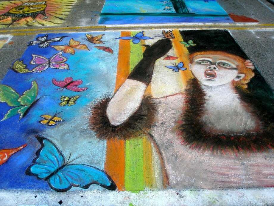 Chalk art at Creekfest 2011. Photo: Submitted