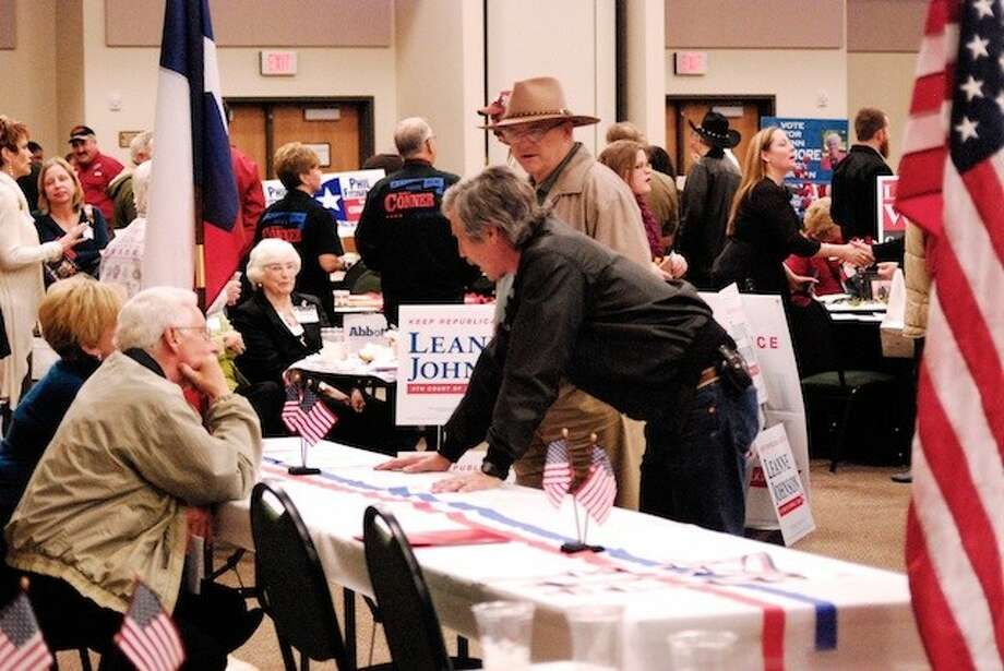 The Liberty County Republican Party held a meet-and-greet at the Dayton Community Center Thursday evening, Feb. 13. Photo: CASEY STINNETT / Houston Community Newspapers, 2014