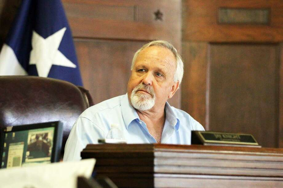 Liberty County Judge J. Knight listens intently to the requests of department heads during the tax rate public hearing prior to the regular commissioners court meeting on Tuesday, Sept. 13. Photo: David Taylor