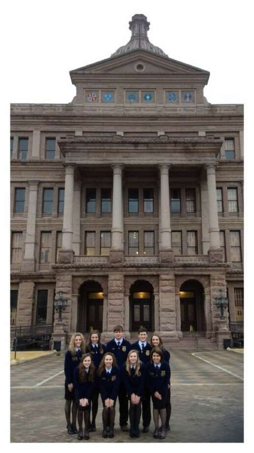 Magnolia West FFA attended the fifth annual Agricultural Education and Texas FFA Day at the Capitol hosted by the Texas FFA Association and the Vocational Agriculture Teachers Association of Texas (VATAT). The Day at the Capitol was held Feb. 25. Photo: Submitted