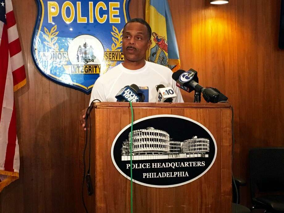Philadelphia Police Commissioner Richard Ross speaks at a news conference at police headquarters on Saturday.