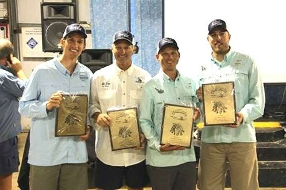 Winners in the Hardware Division of the J.P. Griffon fishing tournament were El Gato members (left to right) Michael Boone, James Boone, David Boone and Larry Holdorff Jr. Photo: SUBMITTED PHOTO