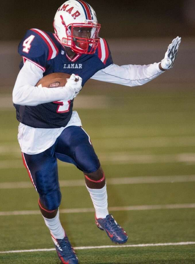 Al'vonte Woodard caught two touchdown passes as Lamar defeated Elsik 31-6 to improve to 3-1. The Texans outscored non-district opponents 129-48. Photo: Kevin Long/GulfCoastShots.com