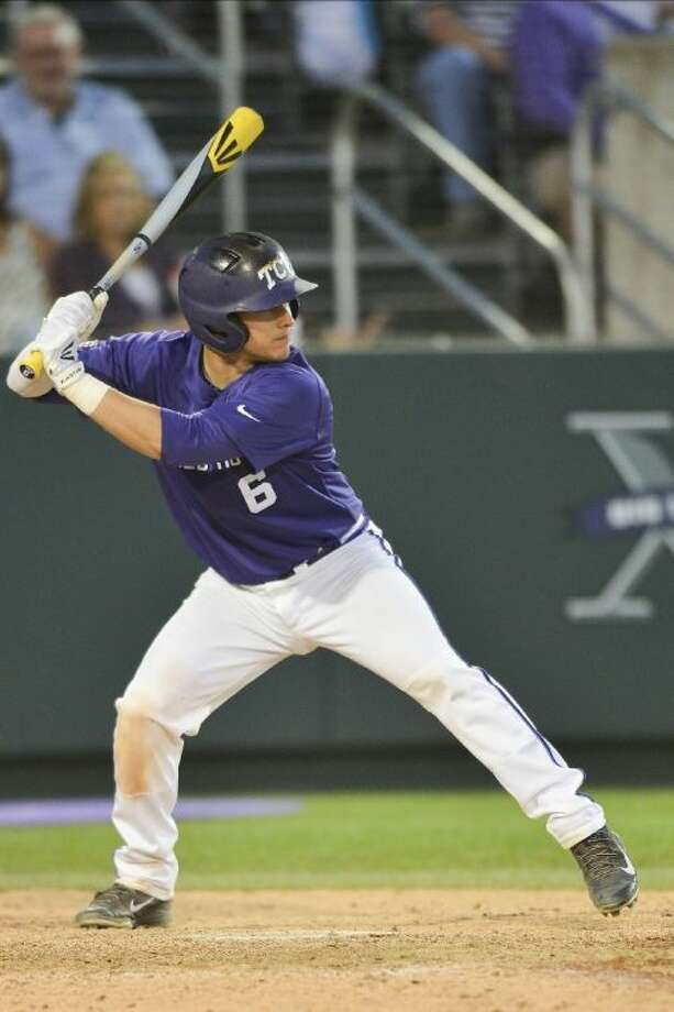 Seven Lakes graduate Kyle Bacak was drafted by the Washington Nationals on June 7, two days before his run-scoring bunt sent TCU to the College World Series. Photo: Michael Clements
