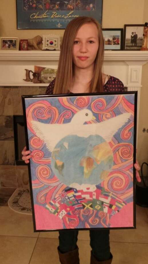 Karly Murray's peace poster is currently being judged at the international level. Photo: Submitted Photo
